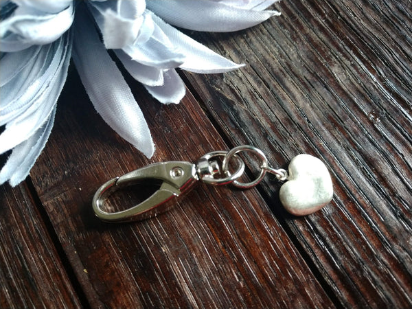 Small Smooth Heart Keychain
