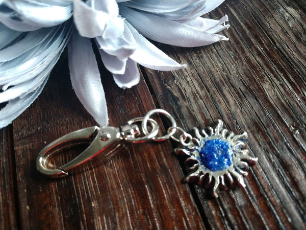 Sun with Resin Keychain