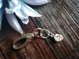 Tiny Rose Keychain