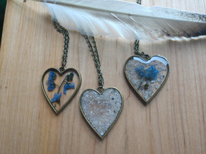 Acrylic Heart Necklace with Inclusions