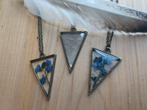 Acrylic  Pennant Shaped Necklace with Inclusions