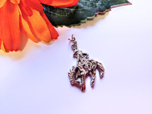 Bucking Horse with Rider Necklace