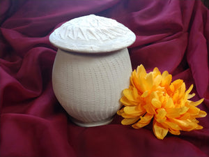 Biodegradable Green Ware Lidded Rounded Urns 2 sizes