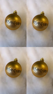 Boule de Noël Yves Saint Laurent - LOT 4 BOULES
