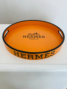 Plateau  Hermès Orange