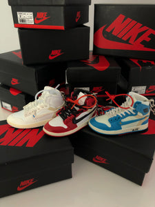 LOT 3 JORDAN x OFF WHITE 3D (UNC, WHITE & CHICAGO)