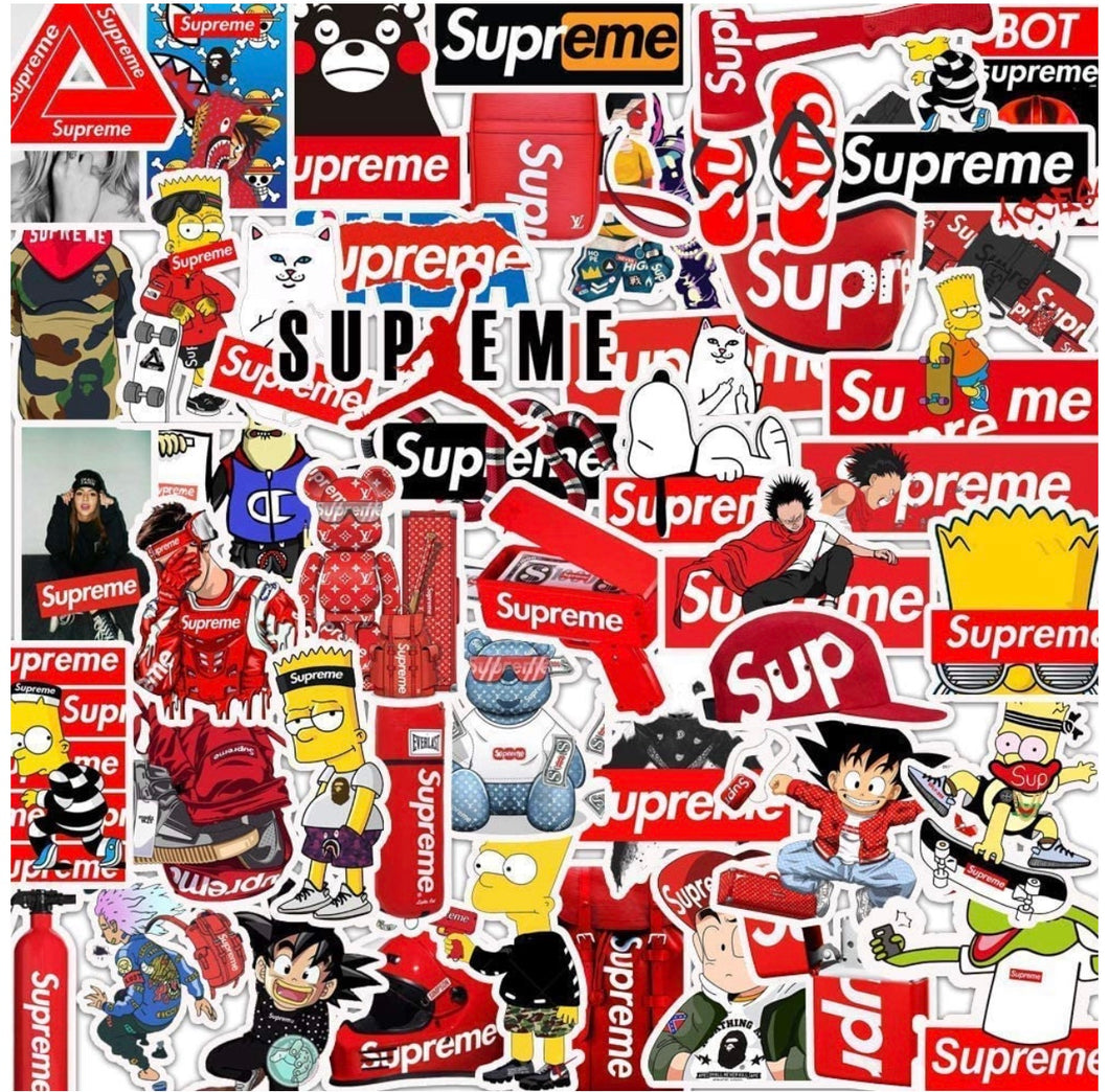 STICKERS SUPREME (LOT DE 5 MYSTÈRE)