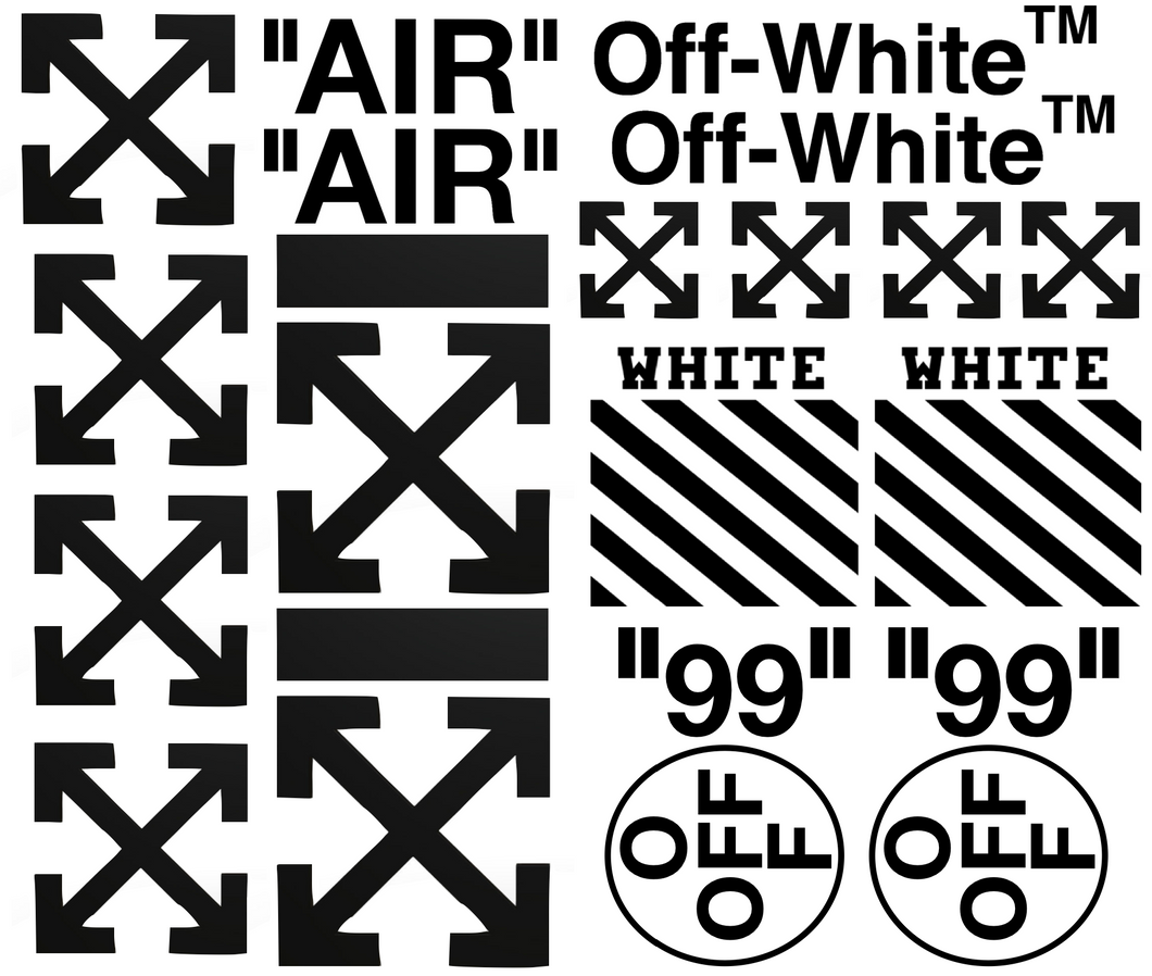 Pochoir & Stickers Off White