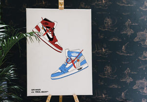 Tableau OFF WHITE x JORDAN 1 DUO