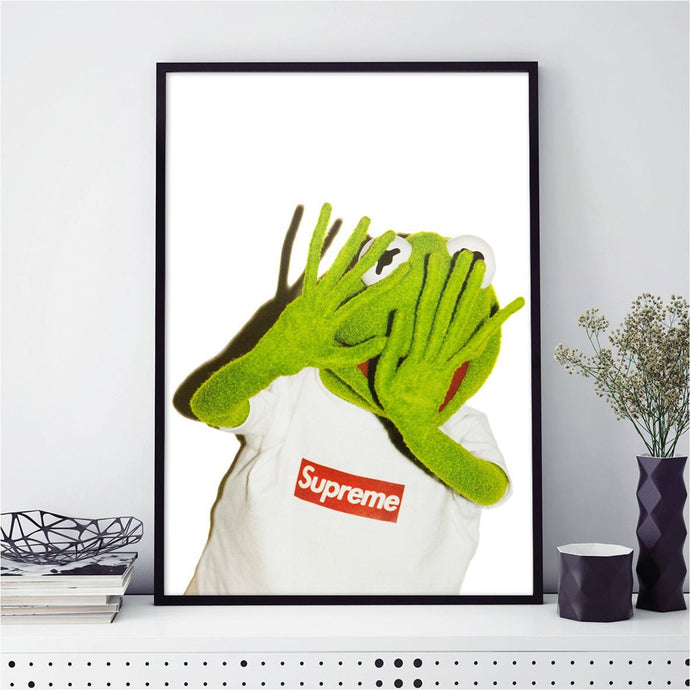 Tableau SUPREME x KERMIT SCARED
