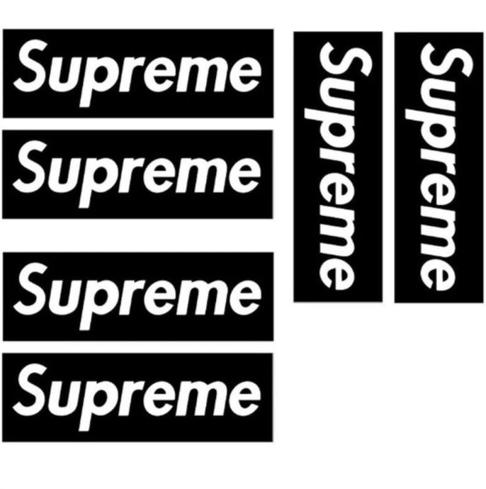 Pochoir & Stickers Supreme Boxlogo