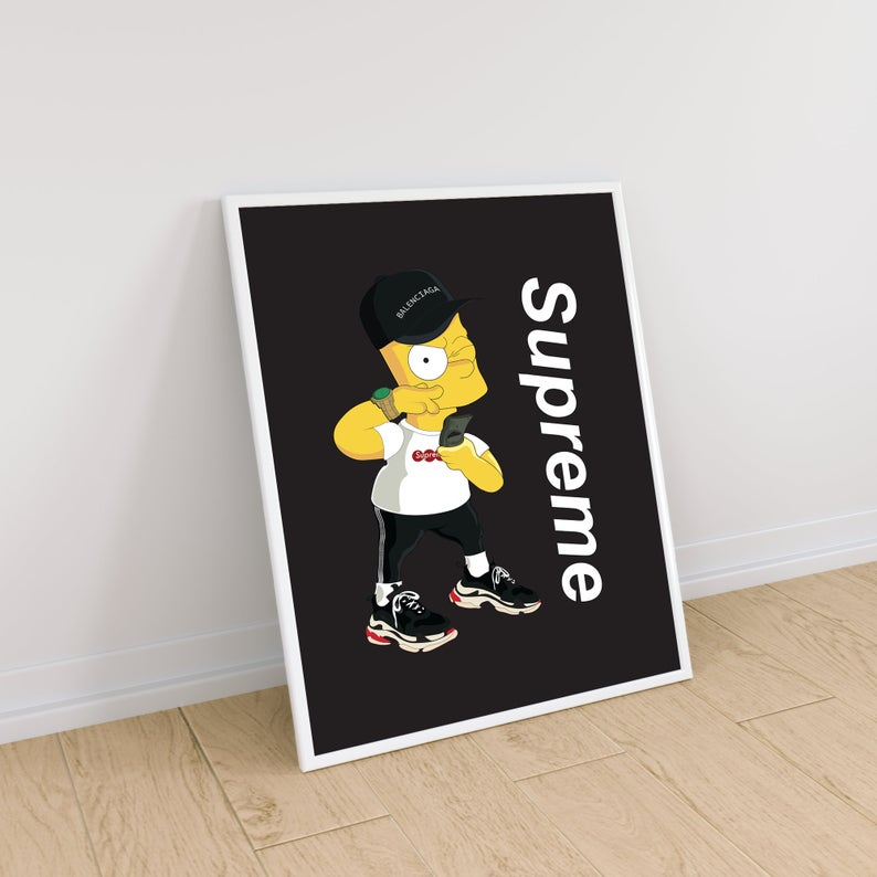 Tableau BART SIMPSON  x SUPREME