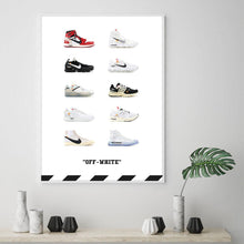 Charger l'image dans la galerie, Tableau OFF WHITE Sneakers Collection
