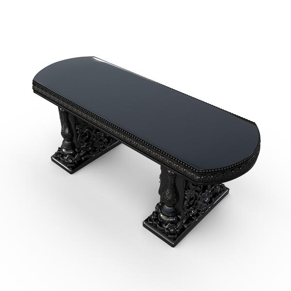 Gardenstone Allegra Bench Benches Gardenstone Black Straight