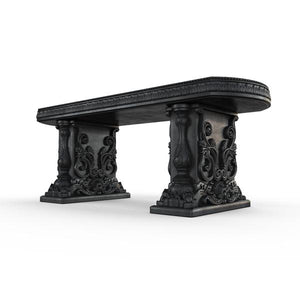 Gardenstone Allegra Bench Benches Gardenstone Etched Black Straight