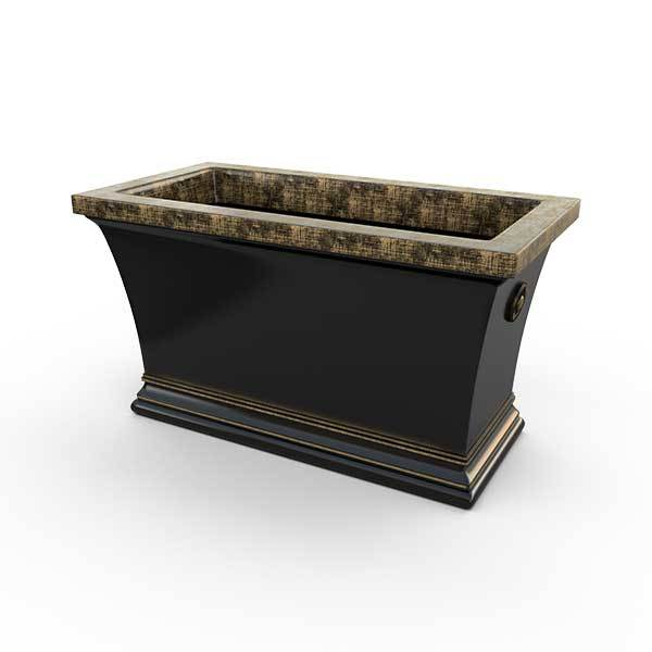 Gardenstone Aurora Trough Planters Gardenstone Golden Black