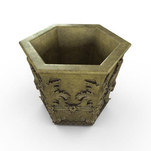 Gardenstone Capella Hexagonal Planters Gardenstone English Moss