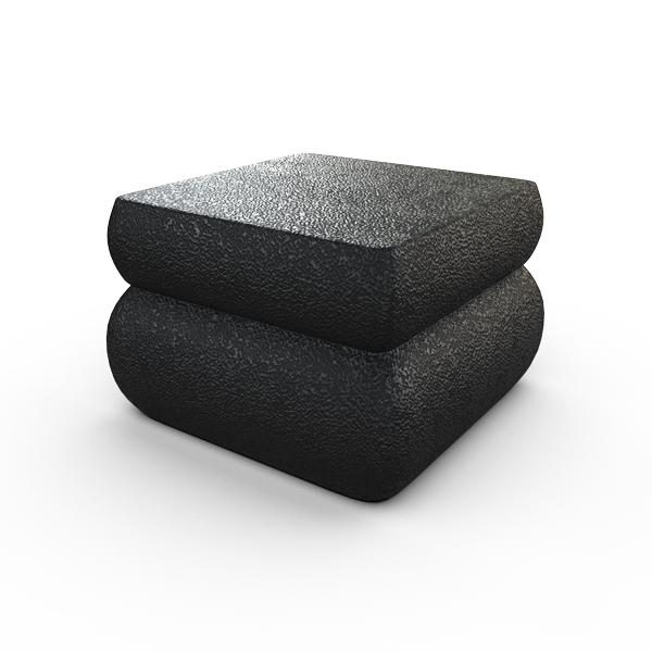 Gardenstone Contemporary Planter Feet (Pack of 4) Pedestals Gardenstone Etched Black Square