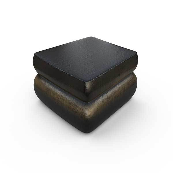 Gardenstone Contemporary Planter Feet (Pack of 4) Pedestals Gardenstone Golden Black Curved