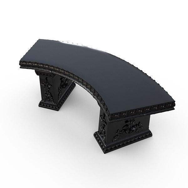 Gardenstone Cotillion Bench Benches Gardenstone Black Curved
