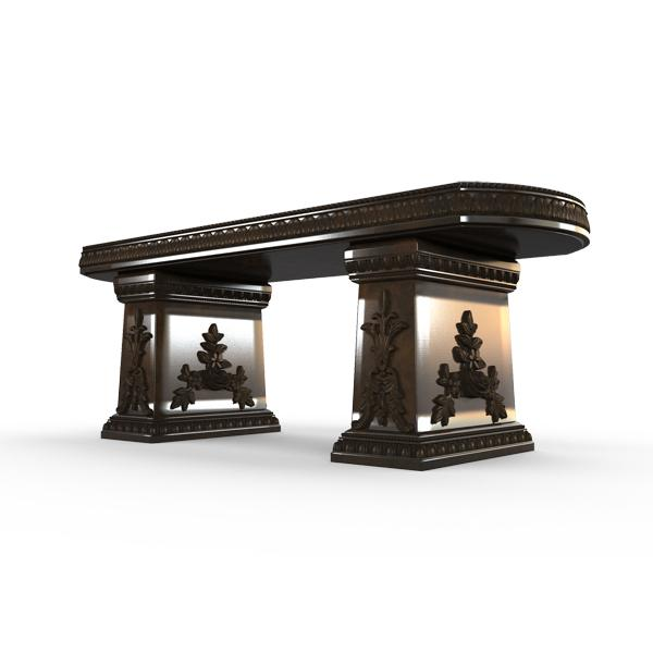 Gardenstone Cotillion Bench Benches Gardenstone Bronze Straight