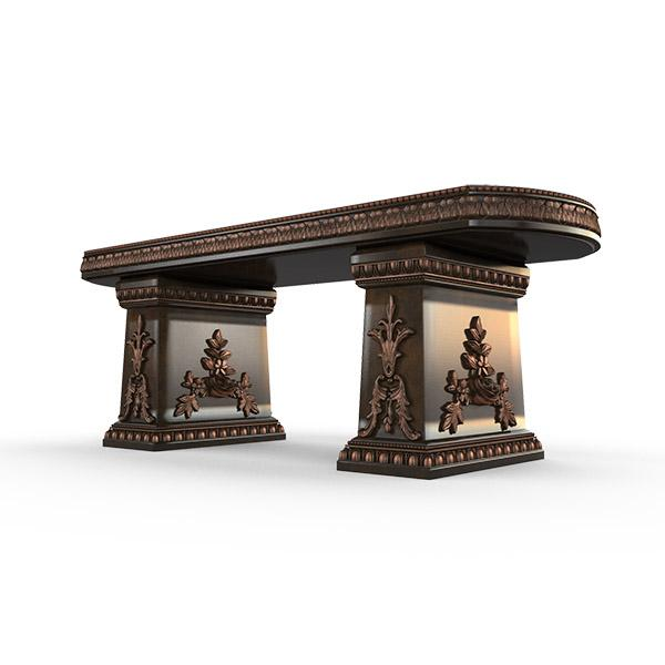 Gardenstone Cotillion Bench Benches Gardenstone Copper Bronze Straight