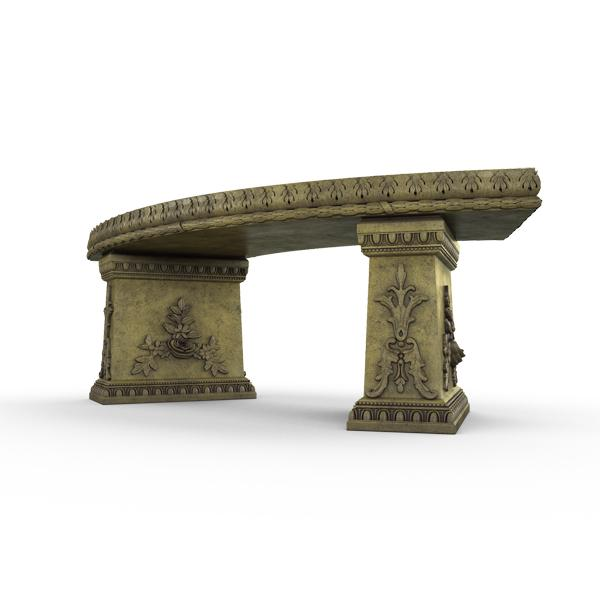 Gardenstone Cotillion Bench Benches Gardenstone English Moss Curved