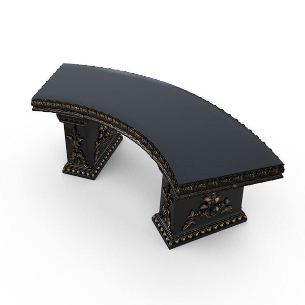 Gardenstone Cotillion Bench Benches Gardenstone Golden Black Curved