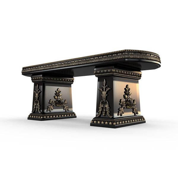 Gardenstone Cotillion Bench Benches Gardenstone Golden Black Straight