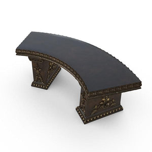 Gardenstone Cotillion Bench Benches Gardenstone Golden Bronze Curved