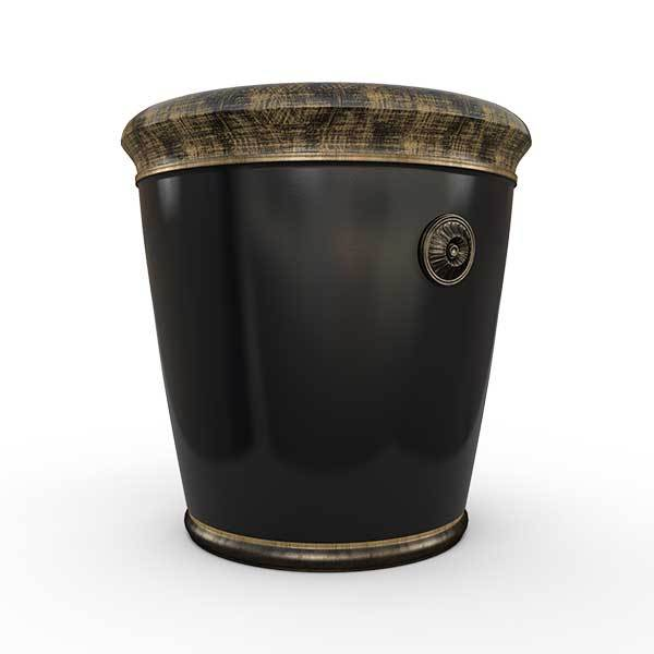 Gardenstone Coventry Planters Gardenstone Golden Black Small