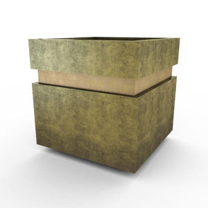 Gardenstone Cubic 12 Planters Gardenstone English Moss Gold
