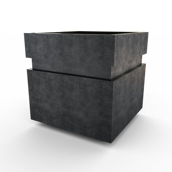 Gardenstone Cubic 12 Planters Gardenstone Etched Black No Accent