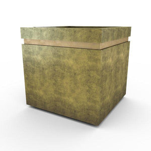 Gardenstone Cubic 24 Planters Gardenstone English Moss Gold