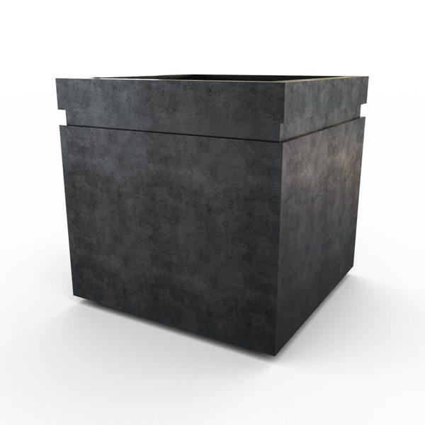 Gardenstone Cubic 24 Planters Gardenstone Etched Black No Accent