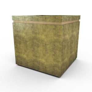 Gardenstone Cubic 36 Planters Gardenstone English Moss Gold