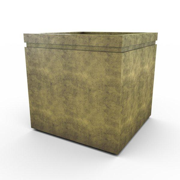 Gardenstone Cubic 36 Planters Gardenstone English Moss No Accent Color