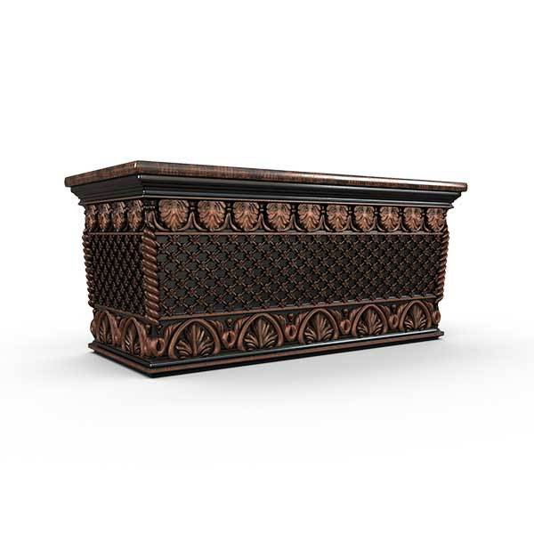 Gardenstone Floral Weave Trough Planters Gardenstone Copper Black