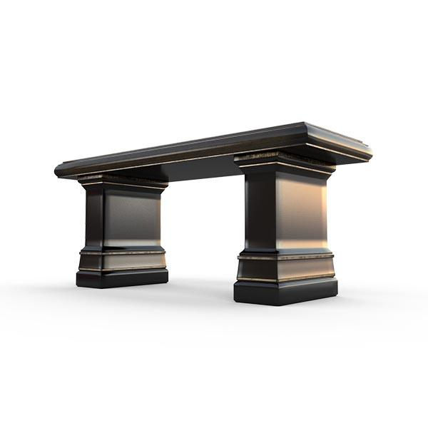 Gardenstone Highgrove Bench Benches Gardenstone Golden Black Bench