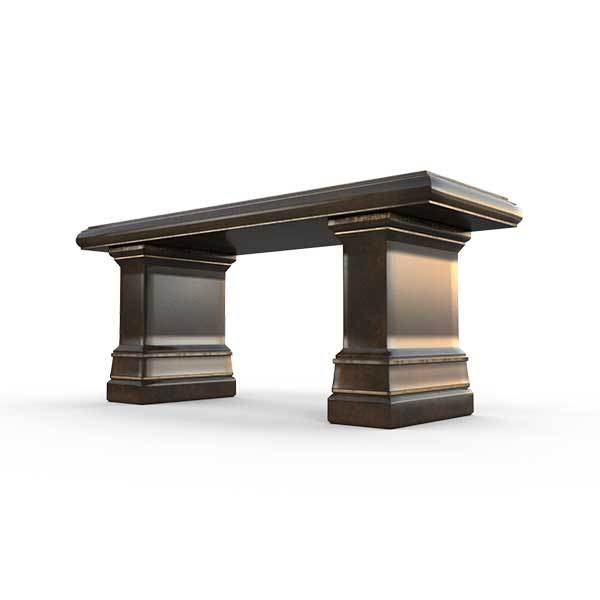 Gardenstone Highgrove Bench Benches Gardenstone Golden Bronze Bench