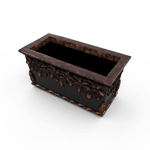 Gardenstone Leaf Cluster Trough Planters Gardenstone Copper Black