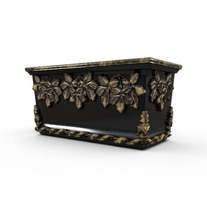 Gardenstone Leaf Cluster Trough Planters Gardenstone Golden Black
