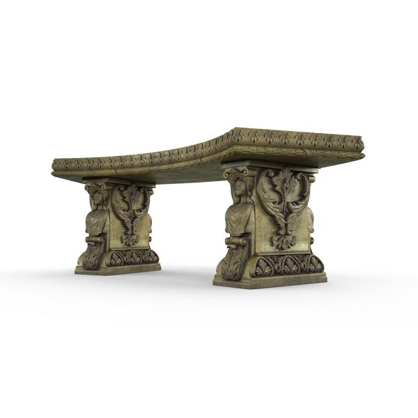 Gardenstone Princessa Bench Benches Gardenstone English Moss Curved