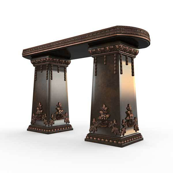 Gardenstone Side Table Benches Gardenstone Copper Bronze Side Table