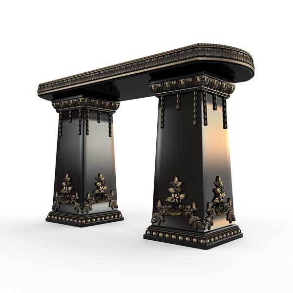 Gardenstone Side Table Benches Gardenstone Golden Black Side Table