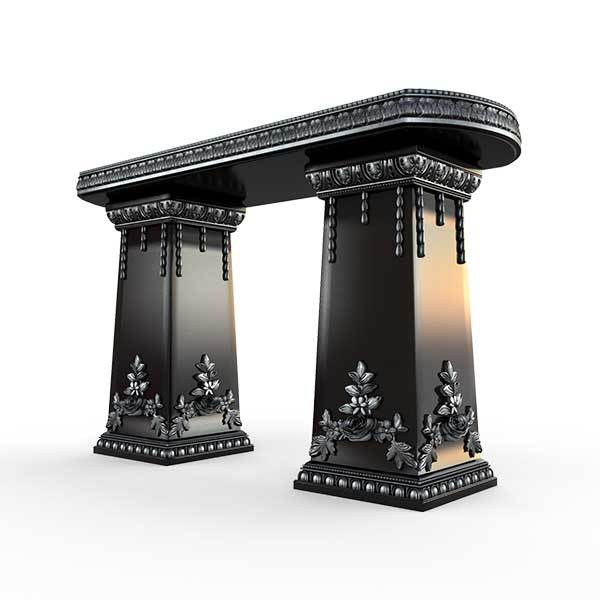 Gardenstone Side Table Benches Gardenstone Silver Black Side Table