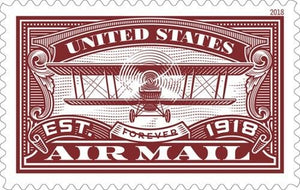 TangStamps US Stamp 2018 New Issue Air Mail Red MNH