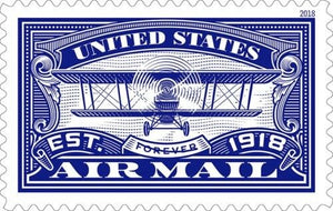 TangStamps US Stamp 2018 New Issue Air Mail Blue MNH