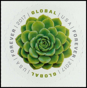 US #5198 2017 Global Forever Stamp GREEN SUCCULENT Single MNH