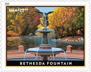 US #5348 2019 Express Mail Bethesda Fountain $25.50 Single MNH